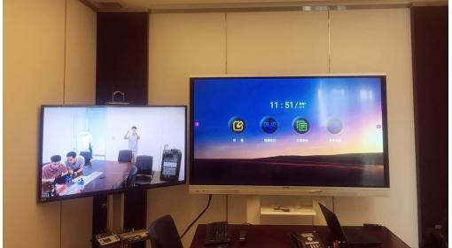 山东顺佳装饰安装两屏联动智能平板案例